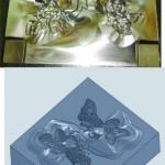 Metal tepsi kulp modeli